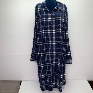 Torrid Dress 2 Plus 18 - 20 Blue Plaid Tab Sleeve